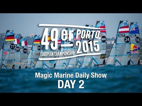 49er Sailing Chat - Magic Marine Daily Show - 2015 Euros Day 2