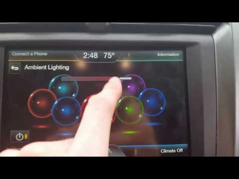 How to change your ambient lighting on your 2011-2017 ford fusion escape edge my ford touch