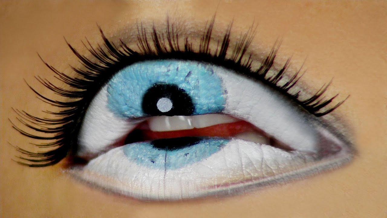 The Third Eye Freaky Lips Halloween Tutorial Youtube