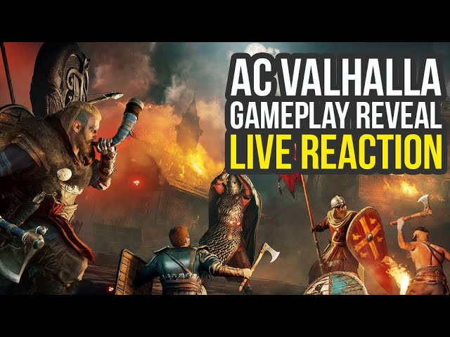 Assassin S Creed Valhalla Gameplay Reveal Live Reaction Of