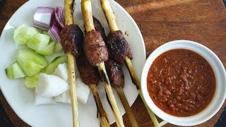 Minced Meat Satay {sate Lilit}