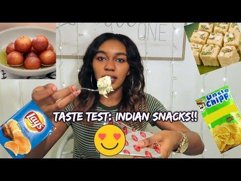 TASTE TEST: INDIAN SNACKS PART 2!!! 🇮🇳