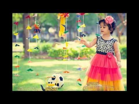 ec6d08fd84e5 Party Wear Net Patch Work Frocks For Kids!!! - YouTube