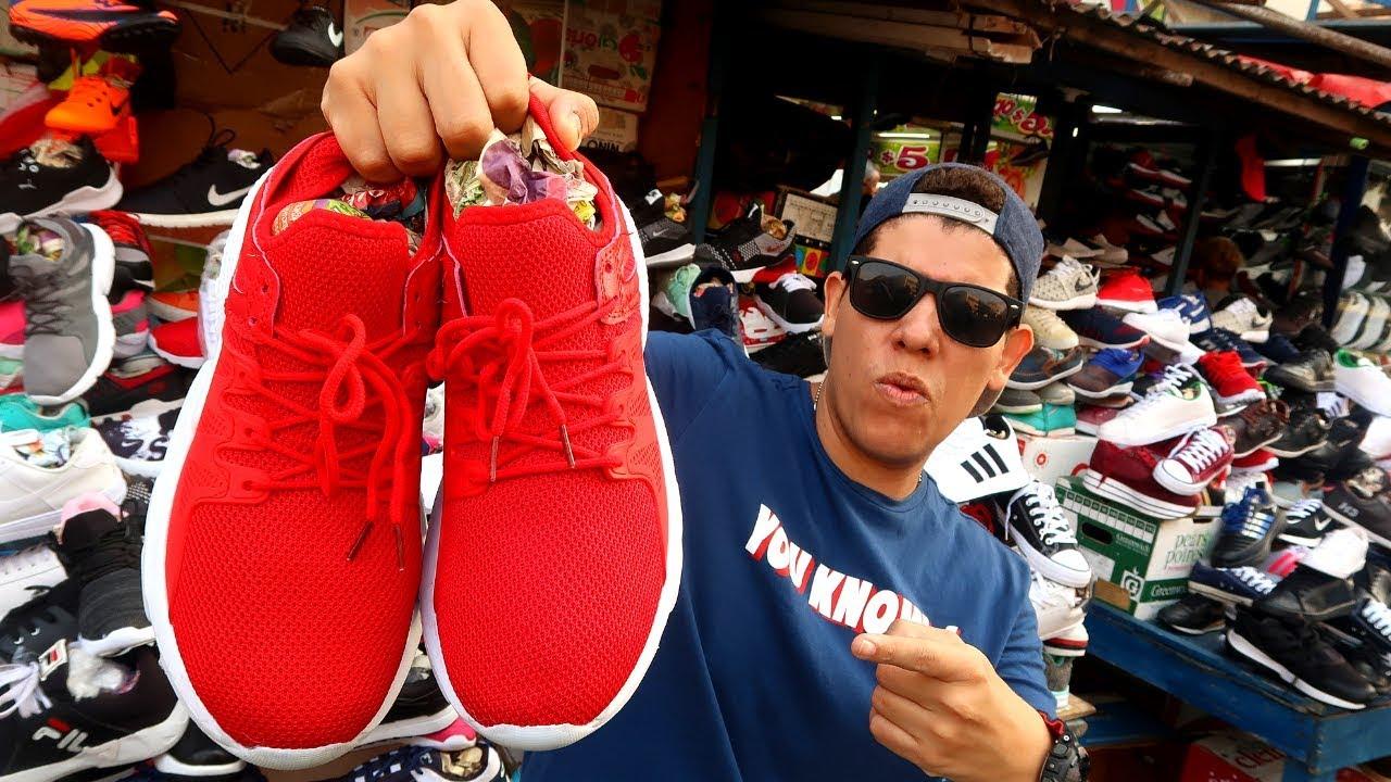 Basura siguiente saludo  COMPRANDO TENIS BARATOS en COLOMBIA 👟 La calle de los Zapatos - YouTube