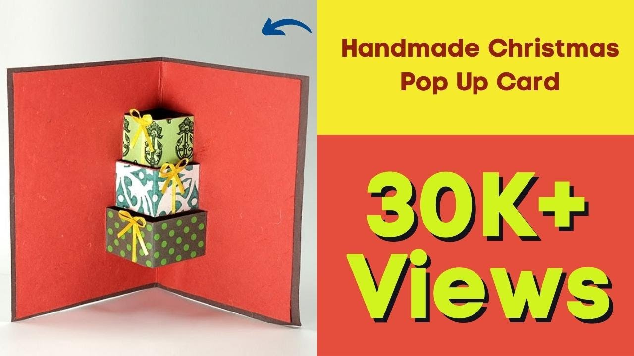 Handmade Christmas Pop Up Card