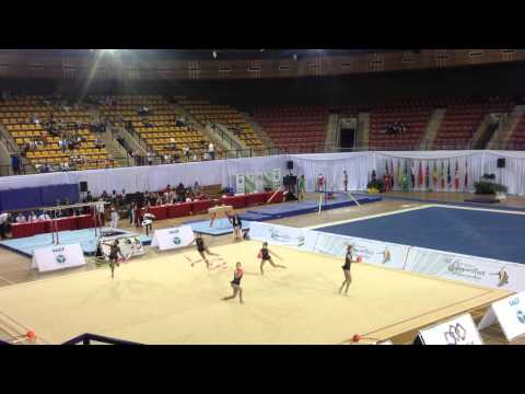 Awesome ball and ribbon routine - Africa Gymnastics Champs 2014