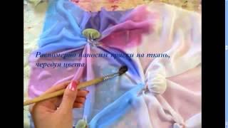 Узелковый батик мастер класс(http://www.zvetochek.com/ В этом видео вы узнаете как ткань, камушки и нитки превращаются в красивый шарфик. Это простоя..., 2013-07-24T07:54:07.000Z)