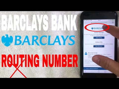 ✅  Barclays Bank ABA Routing Number - Where Is It? 🔴
