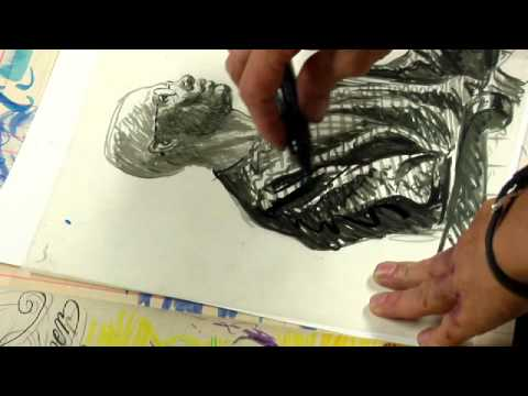 Brush Drawing Art Definition