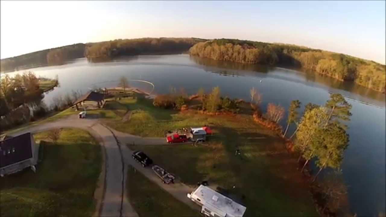 Natchez Trace State Park Pinoak Lake Campground Aerial