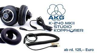 AKG K240-MKII Studio Kopfhörer Unboxing deutsch