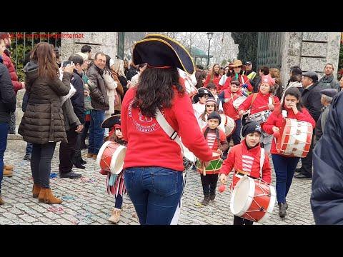 Desfile de Carnaval das Escolas. Vila Real, Portugal. 2018 FEV 09. QuadHD 1440p