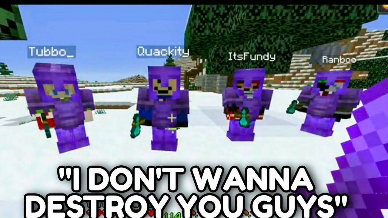 Download Technoblade Does Crazy 1v4 Against TUBBO QUACKITY RANBOO & FUNDY DREAM SMP