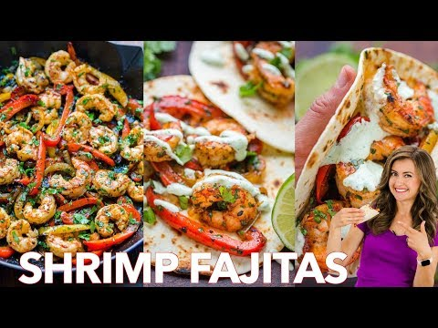 How To Make Shrimp Fajitas -  Easy   One - Pan   30 - Minute  Dinner ✅