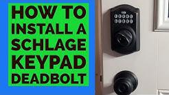 Install SLAGE Keypad Deadbolt Keyless Entry Door Lock
