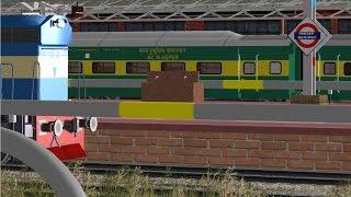 Delhi Bandra Terminus Garib Rath Express in MSTS Open Rails