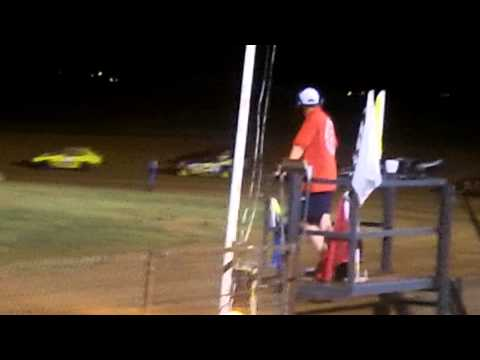 Richard Pece Mini Stock 3# at Lawton Speedway A feature (part 2) 8-8-15