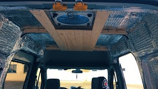 Putting a Wood Ceiling in a Van!