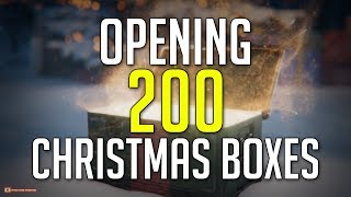 280€ Worth of Boxes • What is Inside 200 Christmas Boxes? ► World of Tanks Christmas Box Opening