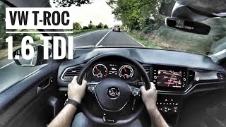 VW T-ROC 1.6 TDI (2019) | POV Country Road Drive