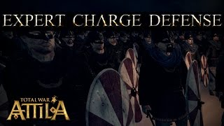 Total War Attila - Expert Charge Defense and Spear Wall against High Charge Infantry