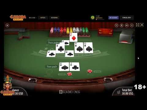 Winning hand at poker in Cleopatra Casino