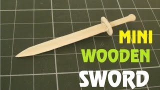 How To Make A Mini Wooden Sword Using A Popsicle Stick - Toy Weapon