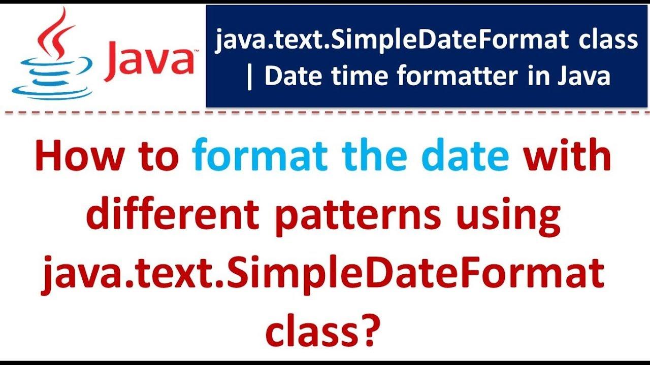Java date format pattern