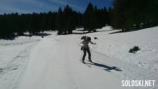 Estación de esquí de fondo de Lles, 1-03-2019