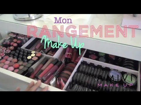 rangement mon rangement makeup et collection de maquillage youtube. Black Bedroom Furniture Sets. Home Design Ideas