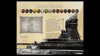 Westeros Total War - Выбор фракции