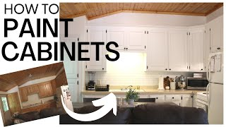 The Best Way t๐ Paint Kitchen Cabinets ~ Kitchen Cabinets Makeover ~ Painting Kitchen Cabinets