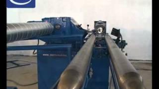 WWW.CNC-PROJEKT.PL Maszyna do produkcji rur okrągłych typu spiro - głowice żeliwne
