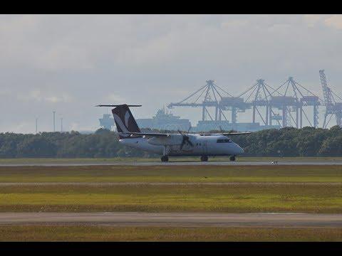 Skytrans De Havilland Canada DHC-8-102 [VH-QQB] - Takeoff Brisbane Airport