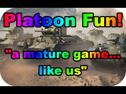 "Platoon Fun! #17 ""a mature game...like us"" (Bat Chat 25t/E100 gameplay) (World of Tanks Xbox)"