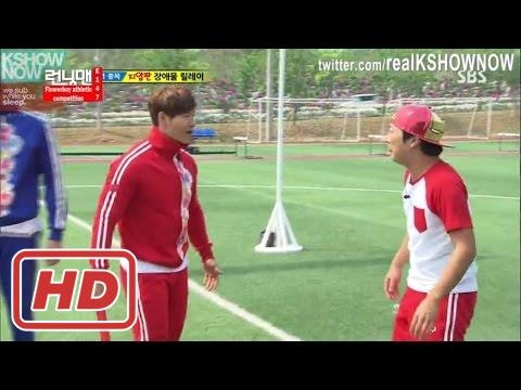 [RM 147] Flower boy athletic competition - Kim Jong Kook Get Angry At Haha In Relay Obstacle Race