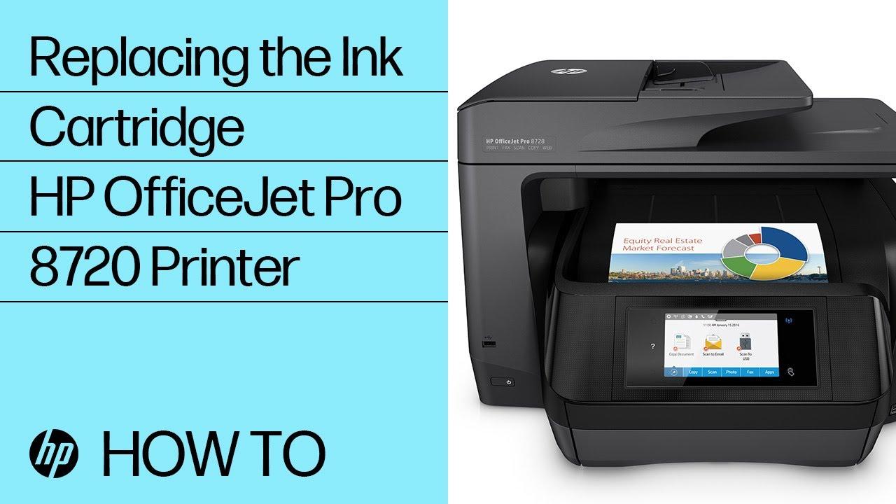 Replacing an Ink Cartridge in the HP OfficeJet Pro 8720 Printer | HP  OfficeJet | HP