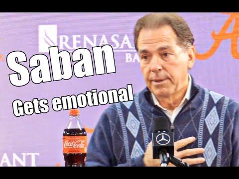 Nick Saban Gets Emotional When Talking About Injured Tua Tagovailoa