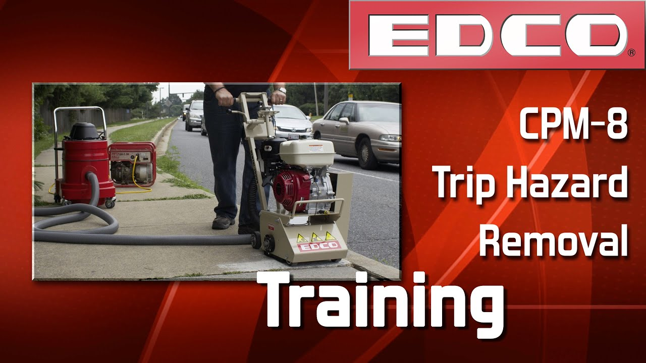 Training: How to Remove Trip Hazards with a CPM-8 Crete-Planer™ - EDCO