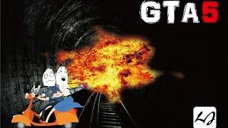 【阿飄日常】GTA v 如何用機車上爆電車,要一些紙袋!