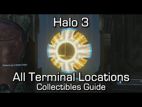 Halo 3 - All Terminals Locations Guide - No Stone Unturned Achievement