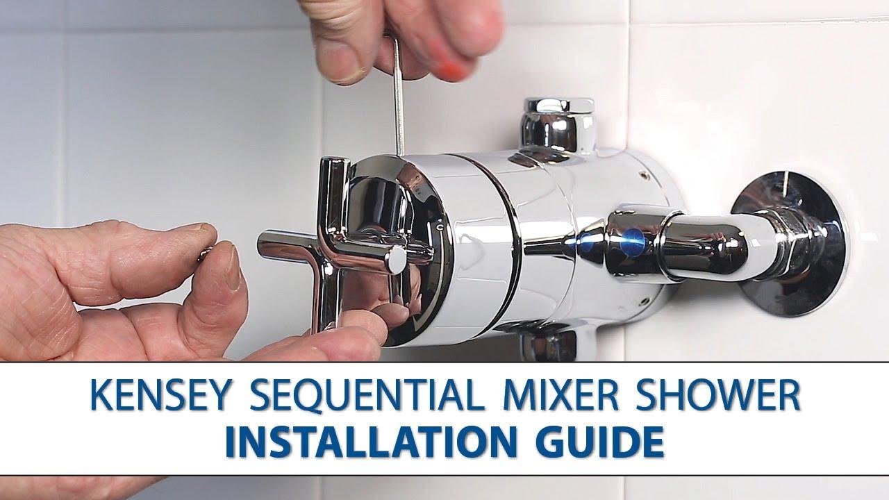step by step shower door installation | Kensey Sequential Mixer Shower - Step-by-Step Installation ...