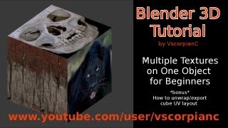 Blender Tutorial Multi Texture Mapping one Object by VscorpianC
