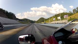 drag racing a honda dn 01 nsa 700 vs honda shadow 750 at thunder valley bristol tn