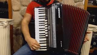 2796 - Black Hohner Bravo III Piano Accordion LMM 41 120 $1495