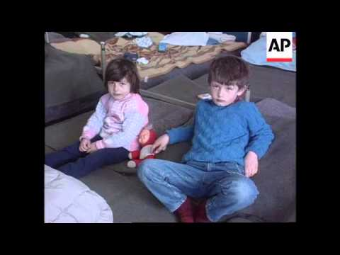Bosnia - Serb Refugees Housed In School