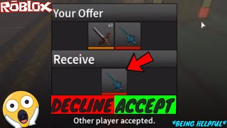 HOW TO HELP SOMEONE OUT IN A TRADE! *ITZZZMEJOSH IS FEATURED* (ROBLOX ASSASSIN HELPING HAND TRADES)