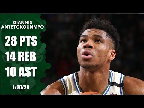 Giannis Antetokounmpo hits 10,000 points, notches triple-double for Bucks  2019-20 NBA Highlights