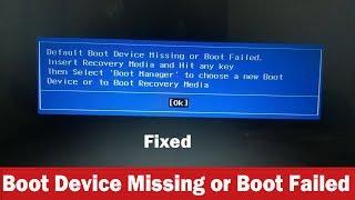 Boot failure - Bios fix