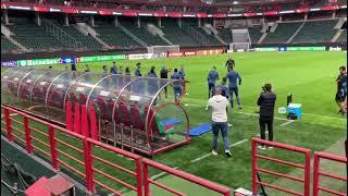 Lokomotiv Moscou-OM : les Olympiens à l'entraînement sur la pelouse de la RZD Arena